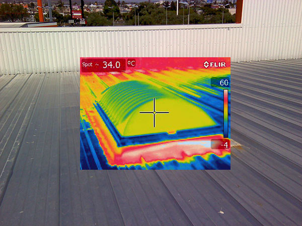 IR Thermography in skylights