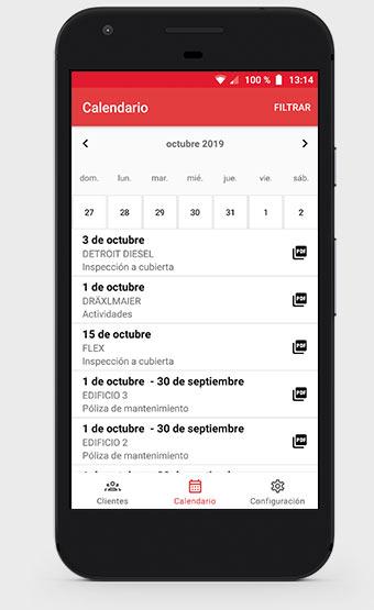 Calendario Roofmaster App