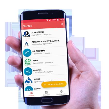 Celular-con-la-App-de-Roofmaster