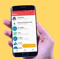 Celular con la App de Roofmaster Popup