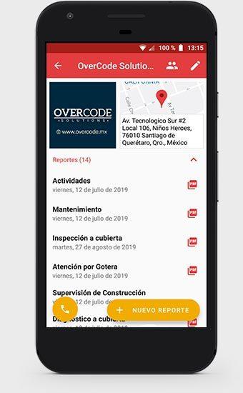 Detalle de Proyecto de la App de Roofmaster